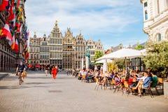 Życie w Antwerpen mieście Zdjęcia Stock