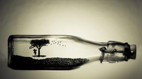 Życie w butelce Fotografia Royalty Free