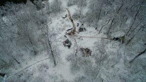 Życie w tipi przy zimą na Ural górze Obrazy Stock