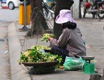 Życie Wietnamscy sprzedawcy w Saigon Fotografia Royalty Free
