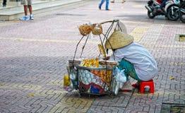 Życie Wietnamscy sprzedawcy w Saigon Fotografia Stock