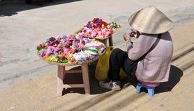Życie Wietnamscy sprzedawcy w Saigon Zdjęcia Stock