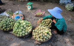 Życie Wietnamscy sprzedawcy w Saigon Obrazy Royalty Free