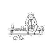 Życie zawodowe ilustracji