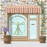 Życiorys produktu sklep Organicznie produktu sklep Zdjęcie Royalty Free