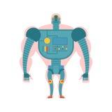 Życiorys robot struktura Mężczyzna z cybernetycznym exoskeleton Cyborg hu Zdjęcie Stock