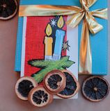 Życzeń Wesoło boże narodzenia 1 i Szczęśliwy nowy rok Obrazy Royalty Free