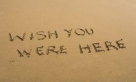 życzeniem pisać ty tutaj był piasek Obrazy Royalty Free