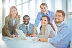 Życzliwa grupa biznesowa Fotografia Stock