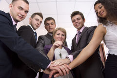 Życzliwa harmonijna biznes drużyna fotografia royalty free