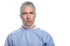 Życzliwa pielęgniarka lub lekarka w chirurgicznie pętaczkach Zdjęcia Royalty Free