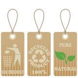 życzliwe eco etykietki Zdjęcie Stock