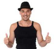 Życzliwego uśmiechu mężczyzna gesta sportowe aprobaty Zdjęcie Royalty Free