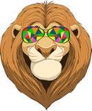 Życzliwy śmieszny lew ilustracji