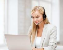 Życzliwy żeński helpline operator obrazy stock