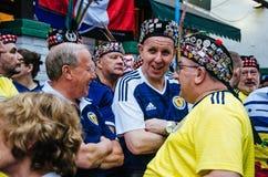 Życzliwy gemowy Peru vs Szkocja Lima, Peru 2018 - Zdjęcie Royalty Free