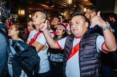 Życzliwy gemowy Peru vs Szkocja Lima, Peru 2018 - Obrazy Royalty Free