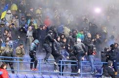 Życzliwy gemowy Ukraina v Serbia w Kharkiv Obrazy Stock