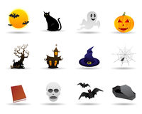 życzliwy Halloween ikony set Obrazy Royalty Free