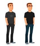 Życzliwy młody facet w przypadkowych ubraniach ilustracji