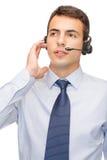 Życzliwy męski helpline operator Obraz Royalty Free