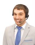 Życzliwy męski helpline operator Zdjęcia Royalty Free