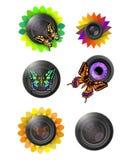 Życzliwy obiektywu loga set Zdjęcia Royalty Free