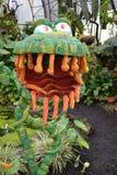 Życzliwy Zielony potwór obraz stock