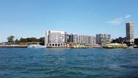 Ydney在环形码头,澳大利亚的港口轮渡 股票录像