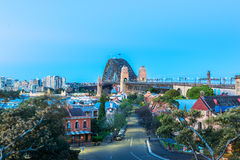 Ydney Harbour Bridge Sydney Australia. Sydney Harbour Bridge Sydney Australia from Milers Point Stock Image