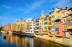 Żydowska ćwiartka, Girona, Hiszpania Zdjęcie Stock