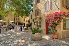 Żydowska kwartalna ulica w Jerozolima, Izrael. Obrazy Royalty Free