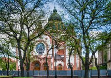 Żydowska synagoga w Subotica mieście, Serbia obrazy stock