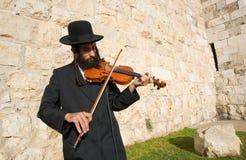 Żydowski uliczny muzyk Obraz Stock
