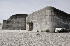 Ye old bunker. Concrete construction at Skagen, Denmark Stock Photos
