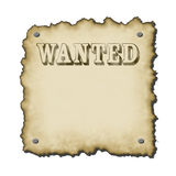 Ye old sign. Old western looking wanted poster text worn looking burnt edges small drop shadow rescales nicely Stock Images