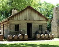 Ye Old Tavern. The historic tavern in New Salem Historic site, Illinois royalty free stock photo