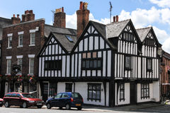 Ye olde Edgar building. Tudor. Chester. England. Ye olde Edgar building in Shipgate street dates from 16th century. The name commemorates King Edgar who visited Royalty Free Stock Photography