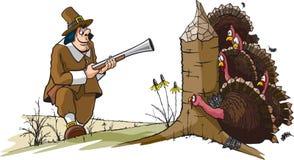 Ye olde Indyczy polowanie ilustracja wektor