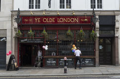 Ye Olde London. A british-style pub... In London of course Royalty Free Stock Photos