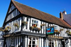 Ye Olde Red Horse Pub, Evesham. Royalty Free Stock Images