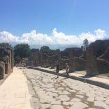 Ye oude Pompei Ruïnes royalty-vrije stock afbeeldingen