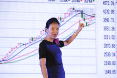 Ye tan explained k line graph Royalty Free Stock Image