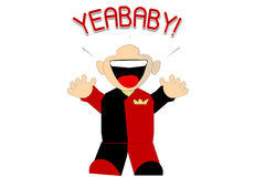 Yea Baby! Character. A character designed to represent success, joy and celebration Stock Photos