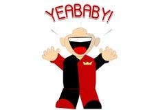 Yea-Schätzchen! Zeichen lizenzfreie abbildung