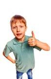 Yeah boy gesture isolated white background Stock Photo