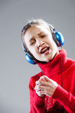 YEAH I'm a little singer girl and I'll be famous Stock Image