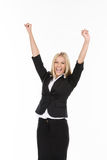 YEAH! I won the contract! Royalty Free Stock Photos