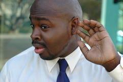 Yeah, sto ascoltando? NON! Fotografia Stock Libera da Diritti
