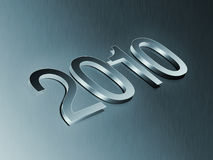 Year. A '2010' year 3D typo Royalty Free Stock Photography